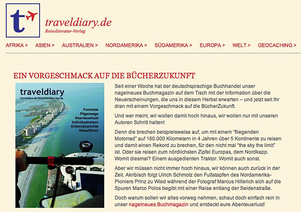 Traveldiary - Werbung 2013